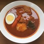 スープカレーゆうじ - チキンカレー1000円、辛味50番以上プラス150円です。