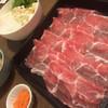 一心 - 料理写真:豚ロースにつくね、野菜&豆腐、もみじおろし