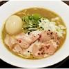 ねむ瑠 - 料理写真:濃厚烏賊煮干(醤油味) 煮玉子入り 880円 実にパンチのあるラーメンです♪