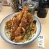 さん天 - 料理写真:海老と鶏の天丼¥490