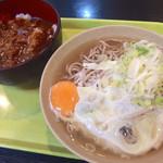 都そば - ミニカレーセット・そば・関西出汁(480円)