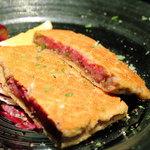 鉄板焼ばらもんや - 宮崎牛クリミのカツレツ