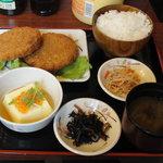 奉天軒 - メンチカツ定食