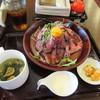 焼専 肉小屋 - 料理写真:暫く待つと注文したローストビーフ丼990円の出来上がりです。