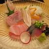 和食と酒 はれとけ - 料理写真:お造り。どれも美味しかった。1週間だったか10日寝かせた金目鯛は絶品。他のサバ、ソイ、キス、タコ、ツマどれも美味しかった。