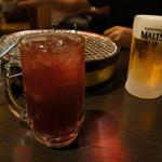 カルビちゃん - 巨峰サワー & 生ビール