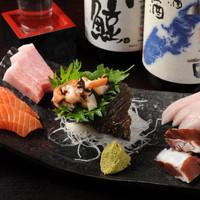 その日のおすすめ新鮮魚介類の盛り合せ『旬の刺身 5種盛り』