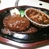 肉の万世  - 料理写真:ハンバーグとミニビーフシチューセット