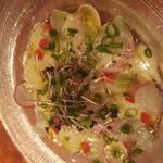 ワインバル 青木酒店 - 鮮魚のカルパッチョ