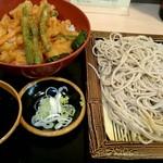 そば処 ことぶき - 『ばら天丼セット』¥570-『蕎麦大盛り』+¥100-