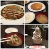 お好み焼き 偶 - 料理写真:モダン焼き定食とセルフソフトクリーム