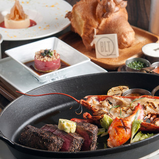 プリフィクスランチ2800円BLTの人気の料理が楽しめる