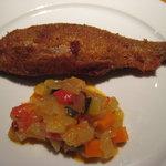 Grillかわむら - 子持ち鮎と野菜のソース