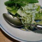 老虎菜 - アオリイカの葱山椒ソース!これは食べたことない味