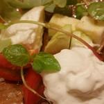 フラテッロ - 本日の前菜(水牛のモッツァレラ)