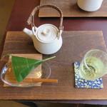 月天心 - 麩まんじゅう&冷たい煎茶セット