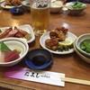 たよし - 料理写真:昼呑みのAセットです!ドリンクに枝豆、お造り、鶏唐、ソーセージが付いてます!