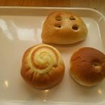 酒田木村屋 - 料理写真:餡パン・クリームパン・ツナチーズパン