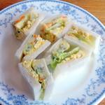 チャウ - ポテトサラダと玉子サンドイッチ630円