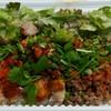 ぞうさん食堂 - 料理写真:カオマンガイ(左)とベトナムごはん(右)のハーフ&ハーフ(辛く)