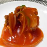 中国料理 「王朝」 - 鯛の甘酢あんかけ(特注)
