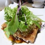 中国料理 「王朝」 - 油淋鶏(ユーリンチー) 鶏肉の唐揚げ 香味ソース