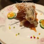 香港旬彩 朋 - (ランチ)白身魚フライの甘酢あんかけ