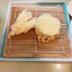 天ぷら倶楽部 - 日替わりA定食のキス/ズッキーニ