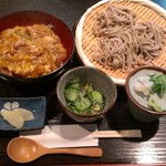 そば処やま本 - 『ミニ親子丼&ミニざる蕎麦』定食 860円