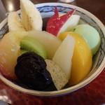 茶房 欅 - 抹茶クリームあんみつ