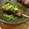 """焼鳥 鶏 田村 - 料理写真:レバーねぎ胡麻油と砂ずり*˙﹀˙*)ノ"""""""