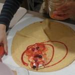 ル・クール - 新鮮なイチゴ、ラズベリー、フルーツソース。