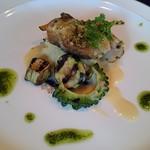鳥居本 遊山 - 魚料理】甘鯛のムニエル 夏野菜のグリル添え