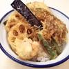 さん天 - 料理写真:野菜たっぷり天丼