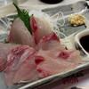 元祖立ち飲み屋 - 料理写真:真アジ刺身¥280円