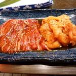 焼肉三松 - ツラミ、上ミノ