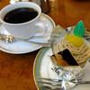 田村町キムラヤ - 料理写真:コーヒーセット(和栗モンブラン)