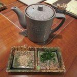 水たき玄海 - お茶漬け用出汁、薬味(2016/07/17撮影)