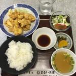 まるい食堂 - とり天定食