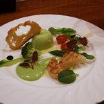 ビストロ 集 - 緑豆のブランマンジュ春野菜添え