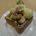 CAFE&BAKERY MIYABI - MIYABIハニートースト:700円