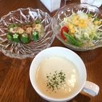 カフェ 凛 - 料理写真:ランチの1品・サラダ・スープ