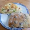 サンジェルマン - 料理写真:ベーコンと枝豆パン クランベリーパン(各商品名不明)