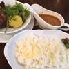 ステーキ&ワイン 神房 - 料理写真:黒毛和牛100%ハンバーグ150gカレー