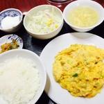 53838351 - 定食A かに玉炒め