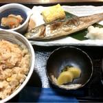 浜の香 - 日替わり定食、ご飯はタコ飯