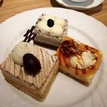 デリス - モンブラン・黒ゴマムース・ベイクドチーズケーキ