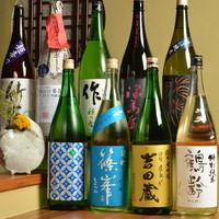 身体が喜ぶお料理に合う、厳選した日本酒をご用意