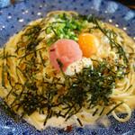 五右衛門 - 料理写真:たらこと湯葉とモッツァレラチーズのカルボナーラ