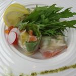 芭蕉 - 料理写真:鮮魚の生春巻き